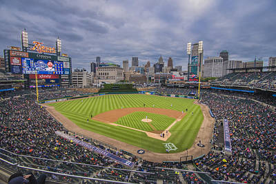Photograph - Detroit Tigers Comerica Park 4808 by David Haskett II