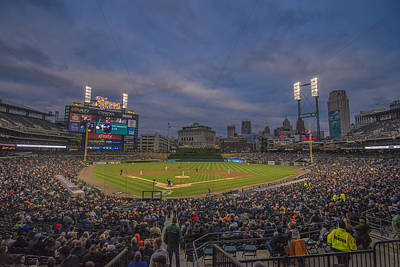 Photograph - Detroit Tigers Comerica Park 4942 Color by David Haskett