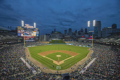 Photograph - Detroit Tigers Comerica Park 5063 by David Haskett
