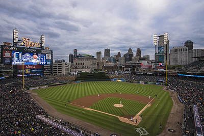 Photograph - Detroit Tigers Comerica Park 7 by David Haskett II