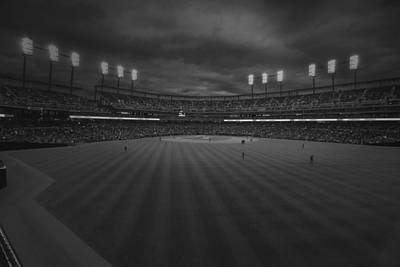 Photograph - Detroit Tigers Comerica Park Bw 4930 by David Haskett