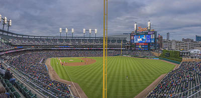Photograph - Detroit Tigers Comerica Park Pano1 by David Haskett II
