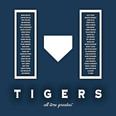 Detroit Tigers Art Digital Art - Detroit Tigers Art - Mlb Baseball Wall Print by Damon Gray