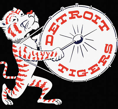 Detroit Tigers Art Painting - Detroit Tigers Vintage Drum Poster by Big 88 Artworks