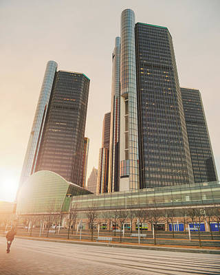 Photograph - Detroit Towers by Ray Devlin