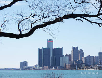 Photograph - Detroit Waterfront From Belle Isle by Ann Horn