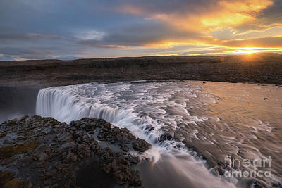 Photograph - Dettifoss At First Light  by Michael Ver Sprill