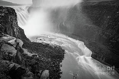 Northeastern Photograph - Dettifoss Flow by Inge Johnsson