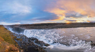Photograph - Dettifoss Sunrise Panorama  by Michael Ver Sprill