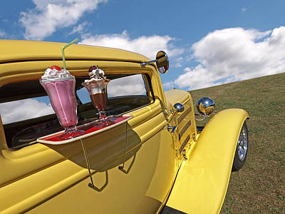 Photograph - Deuce Coupe At The Drive-in by Gill Billington