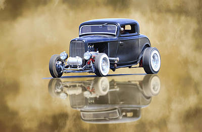 Photograph - Deuce Coupe Reflection by Steve McKinzie