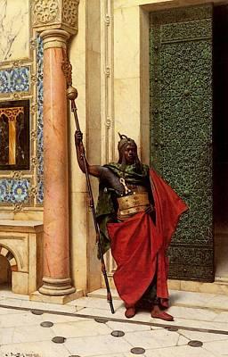 Deutsch Ludwig A Nubian Guard Art Print