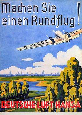 Photograph - Deutsche Luft Hansa, 1930s by Granger