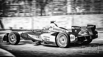 Photograph - Deutsche Post Race Team Miami Electric Prix by Rene Triay Photography