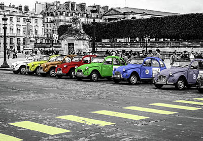 Deux Chevaux In Color Art Print