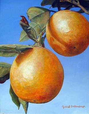 Deux Oranges Art Print by Muriel Dolemieux
