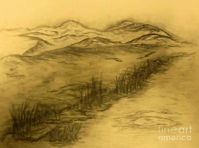 Abstract Expressionist Drawing - Devastation by John Krakora