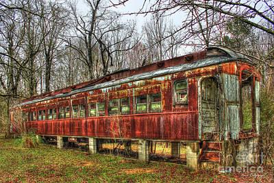 Photograph - Devastation Railroad Passenger Train Car Fire Art by Reid Callaway