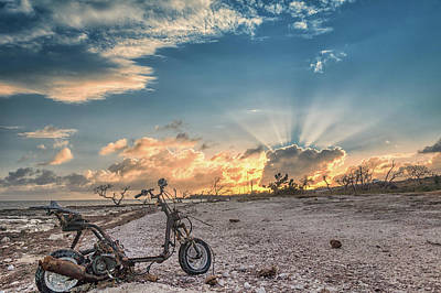 Photograph - Devastation Sunset by Framing Places
