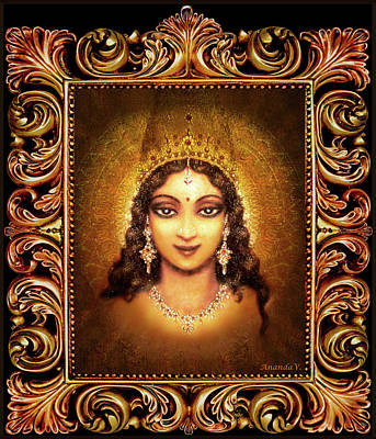 Devi Darshan In A Frame Art Print by Ananda Vdovic
