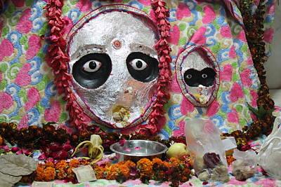 Goddess Durga Photograph - Devi Temple, Vrindavan by Jennifer Mazzucco
