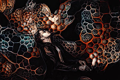 Mixed Media - Deviant Illusions Of The Hivemind by Susan Maxwell Schmidt