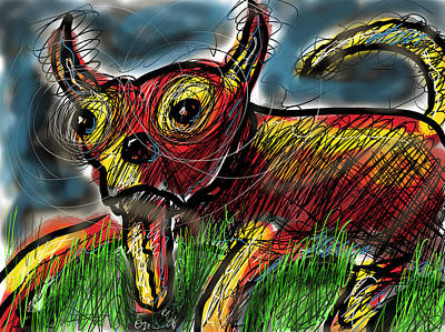 Digital Art - Devil Dog by Joe Bloch