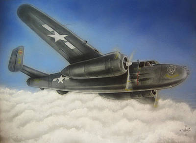 Devil Dog Airplane In Flight Art Print