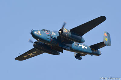 North American B-25j Mitchell Photograph - Devil Dog by Matt Abrams
