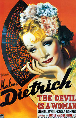 1935 Movies Photograph - Devil Is A Woman, The, Marlene by Everett