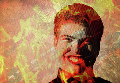 Creepy Mixed Media - Devil Man Grin by Maria Dryfhout
