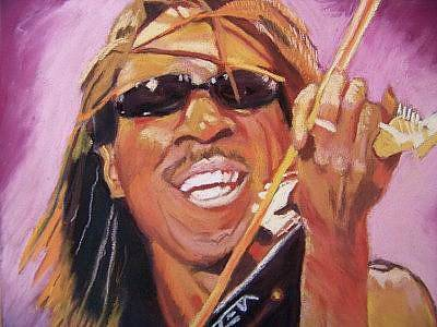 Boyd Tinsley Painting - Devil Went Down To Va by Sherri Ward