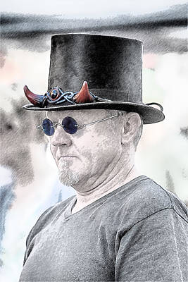 Digital Art - Devil With A Top Hat by John Haldane
