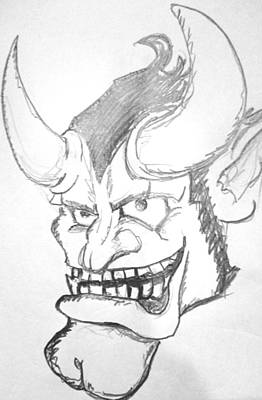 Drawing - Devil by Yshua The Painter