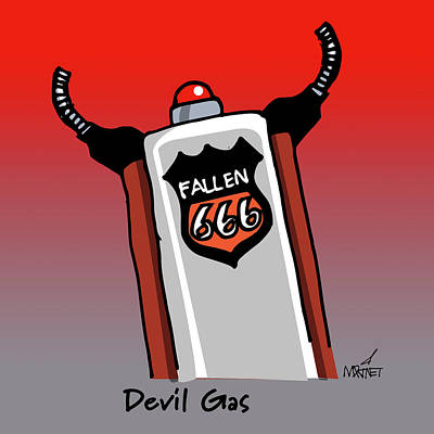 Digital Art - Devil Gas by Mike Martinet