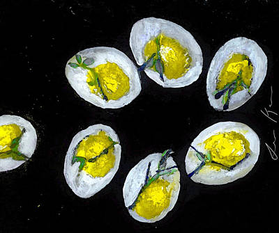 Painting - Devilled Eggs In Space by Lisa Kaiser