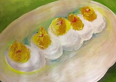 Devilled Eggs Art Print