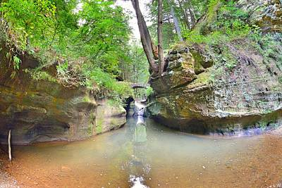 Photograph - Devil's Bathtub At Hocking Hills Ohio by Lisa Wooten