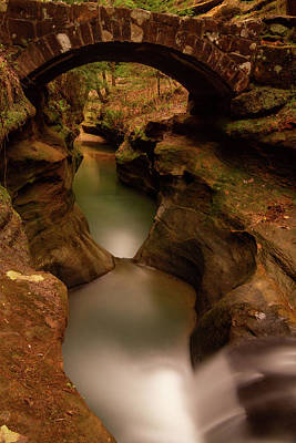 Photograph - Devils Bathtub Hocking Hills by Dan Sproul