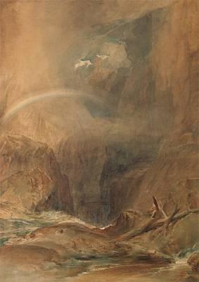Devil's Bridge, Saint Gotthard's Pass Art Print by Grypons Art
