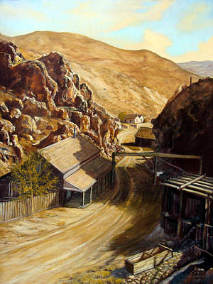 Painting - Devils Gate Nevada by Evelyne Boynton Grierson