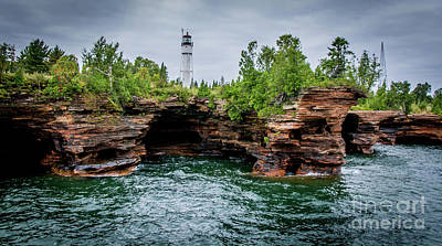 Photograph - Devil's Island Light by Deborah Klubertanz