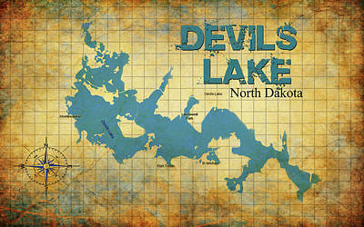 Digital Art - Devils Lake North Dakota by Greg Sharpe