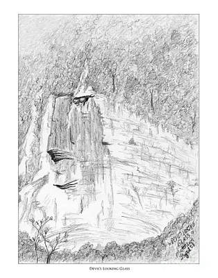 Tennessee River Drawing - Devil's Looking Glass by Matthew Byrd