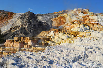 Photograph - Devils Thumb Formation Mammoth Hot Springs Yellowstone National Park by Shawn O'Brien