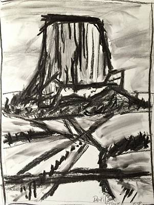 Drawing - Devils Tower by Brenda Pressnall