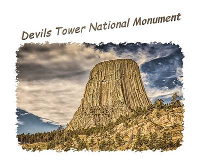 Photograph - Devils Tower Inspiration 2 by John M Bailey