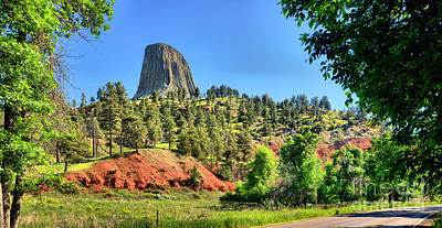 Photograph - Devils Tower Landscape by Adam Jewell