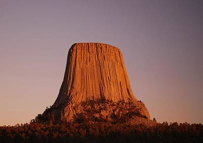 Photograph - Devil's Tower by Lawrence Pratt