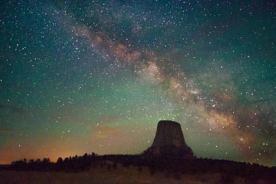 Photograph - Devils Tower Lights by Dakota Light Photography By Dakota